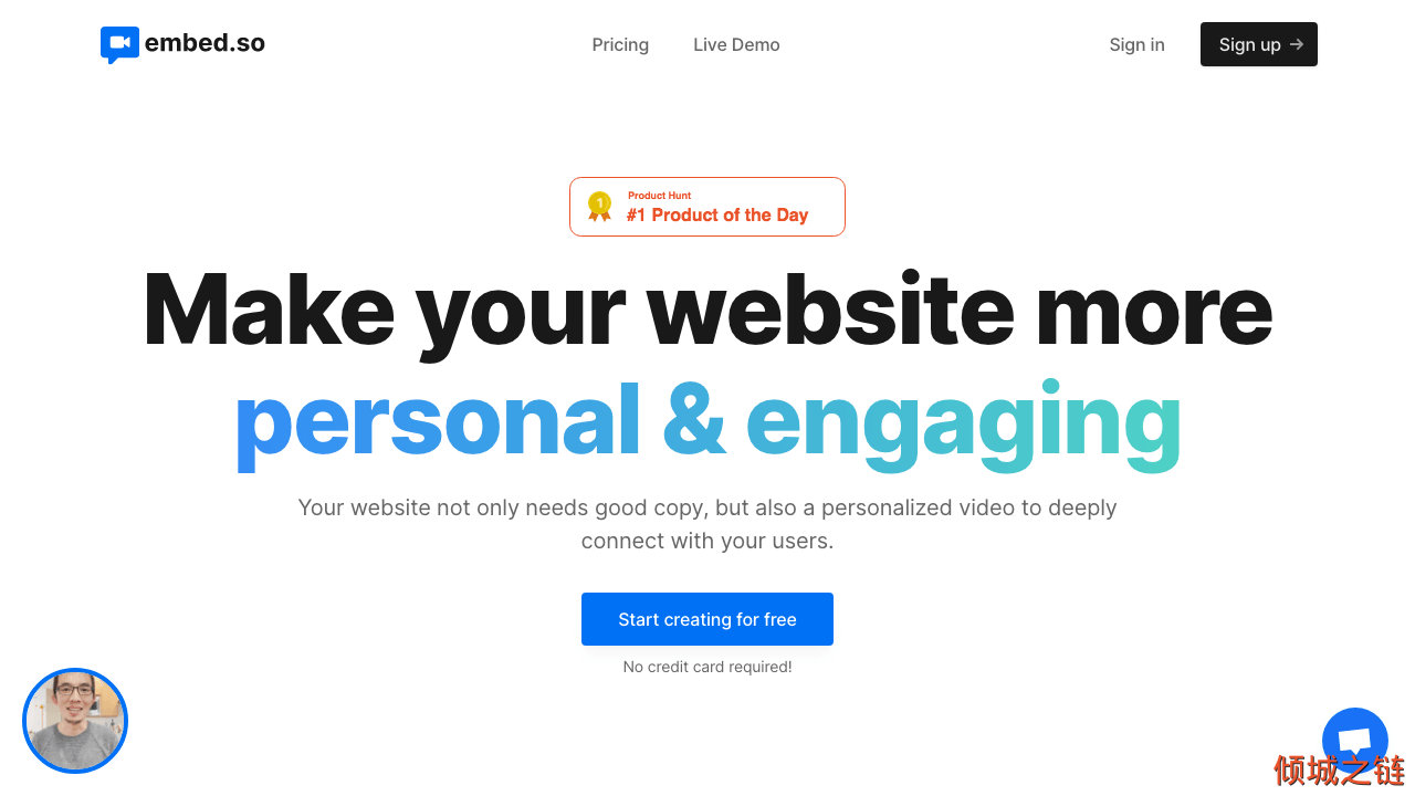 倾城之链 - Embed.so - Make your website more personal and engaging