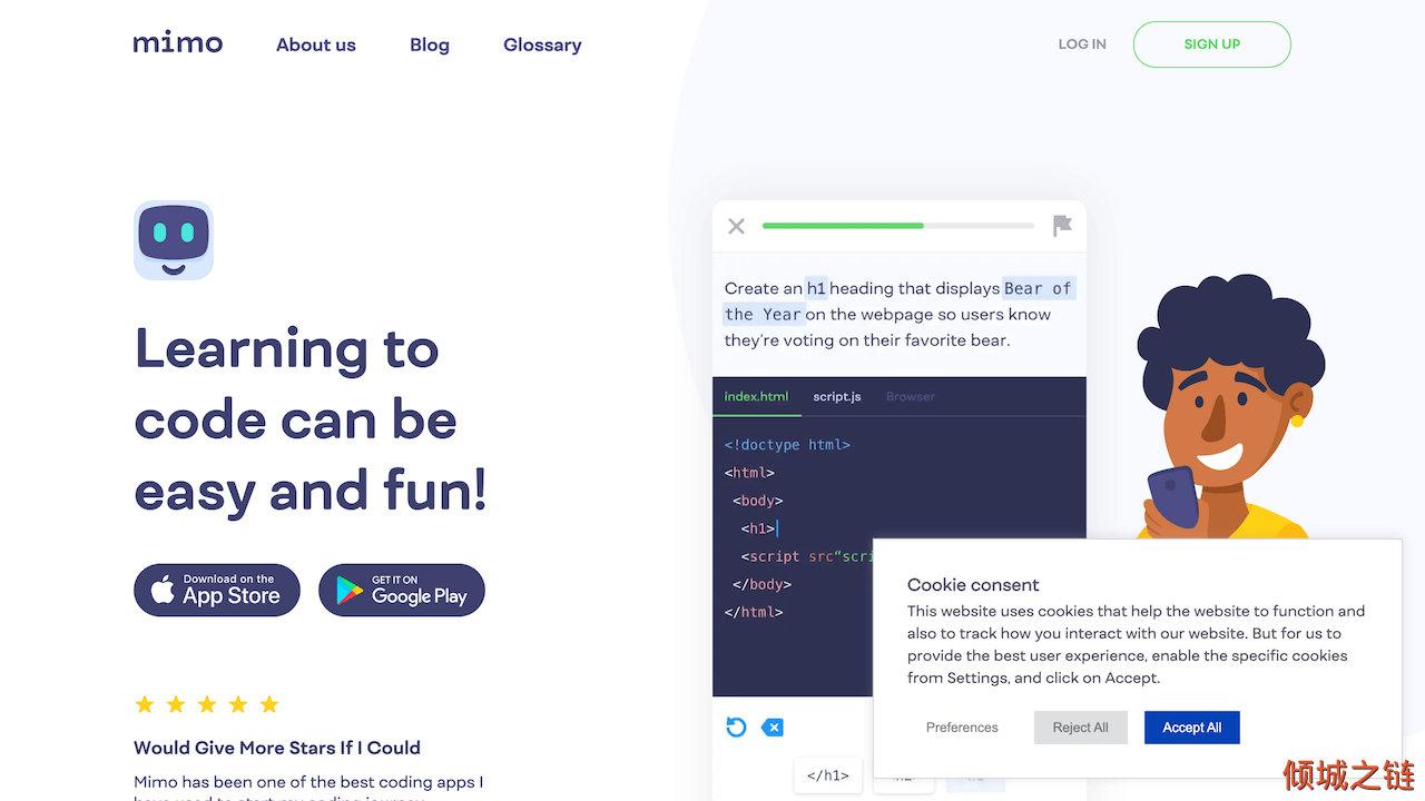 倾城之链 - Mimo: Learn how to code on your phone