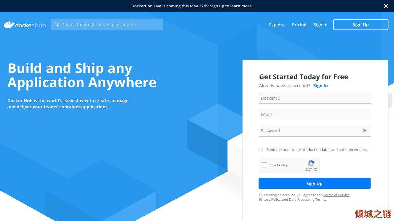 倾城之链 - Docker Hub