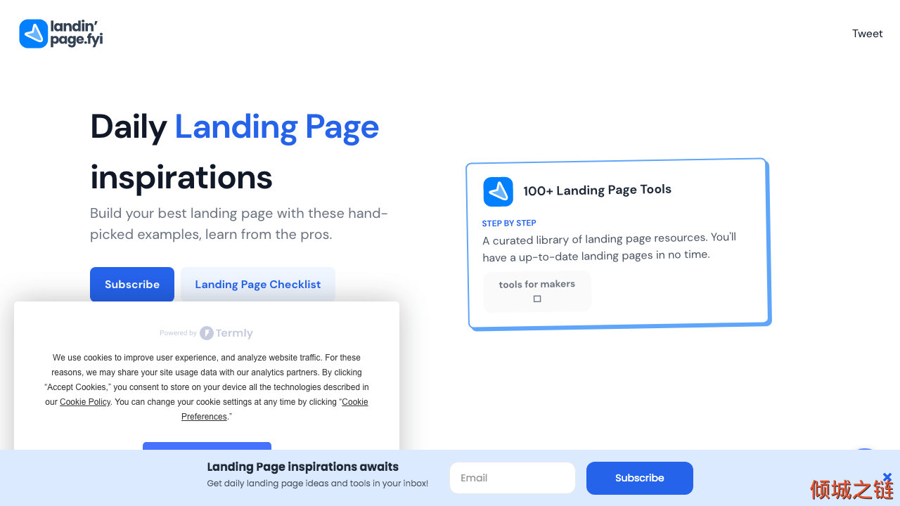 倾城之链 - Landing Page IdeasLanding Page Inspirations | 100+ Tools to Build a Landing PageLanding Page ChecklistProduct Hunt Launch