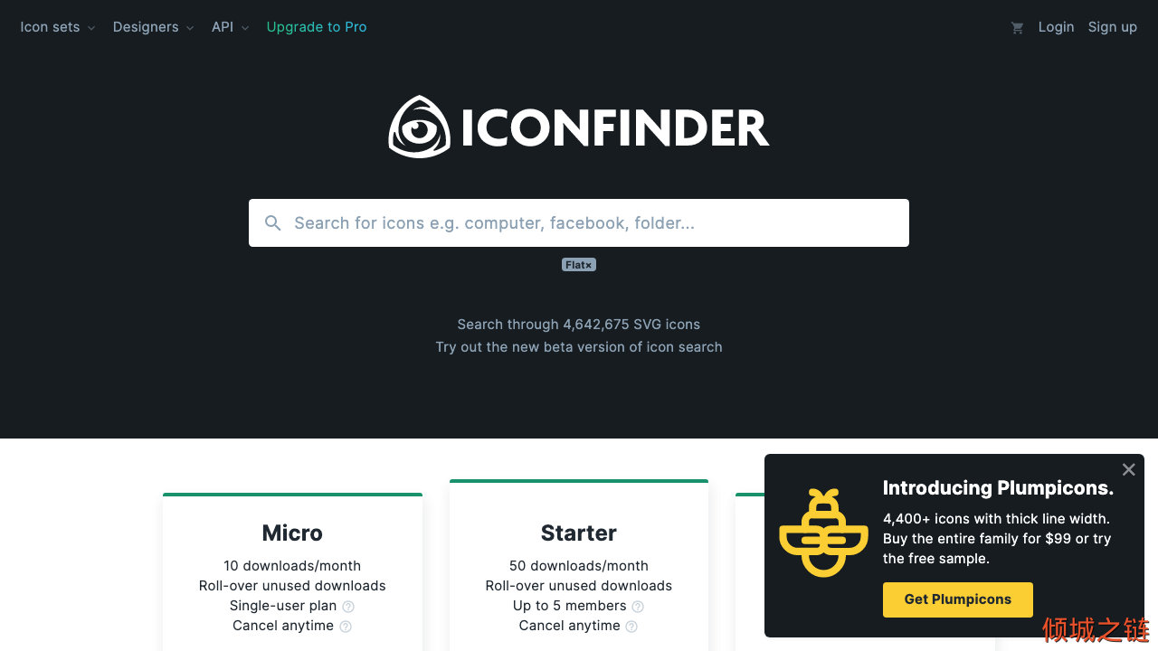 IconFinder - Free and premium vector icons. 倾城之链