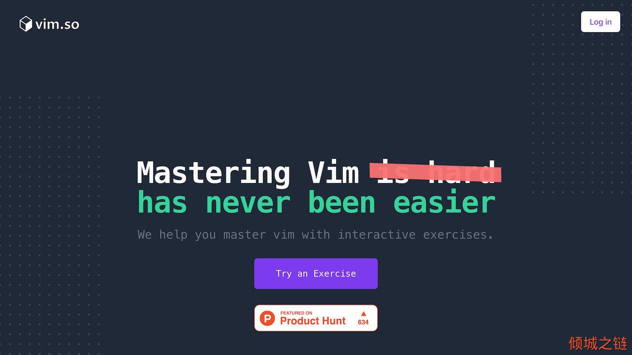 倾城之链 - vim.so - Learn and Master Vim faster with interactive exercises